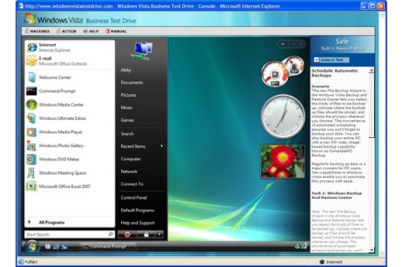 Windows Vista Ultimate Test Drive
