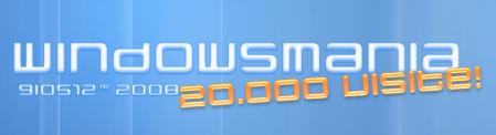 WindowsMania ha finalmente raggiunto 20.000 visite!